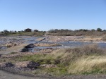 cycling low water crossing on Llano River east of Castell