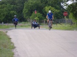 Cycling and wild flowers in Llano County Texas - Hill Country
