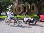 Sun EZ-Sport and Catrike Road ready for the ride to Castell, TX