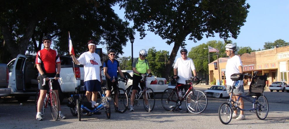 Cycling - Llano TX Courthouse to Castell TX and a soak in the Llano River