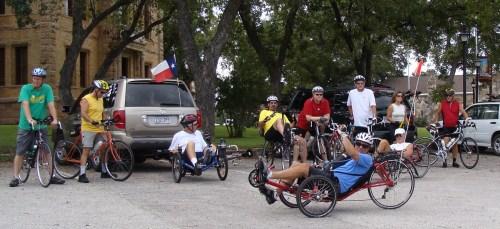 Tour de Longneques riders, Sept 11 2010... Llano Texas