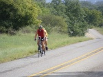 Cycling - Tour de Longneques - Llano to Castell - Doug Miller leads Mike Mckenna