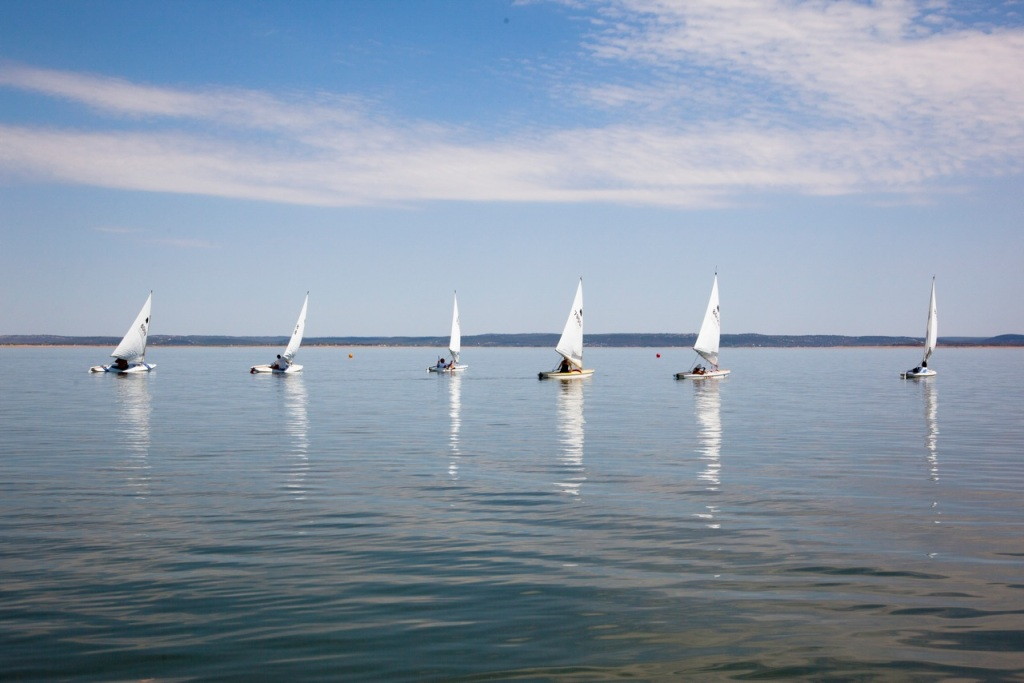 Sunfish racing on Lake Buchanan
