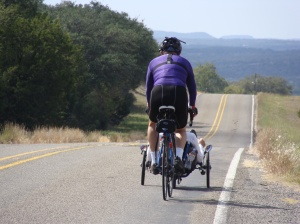Cycling, Catrike, Scattante 570, Lake Buchanan, Mason TX, FM1871, Junction TX