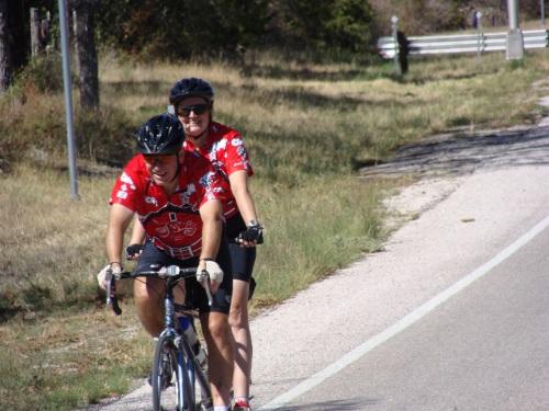 Pat Peterson, Beth Peterson, Tandem Bike