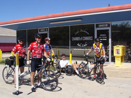 Lake Buchanan - Inks Lake Chamber of Commerce, Cycling, maps, Beth Peterson, Pat Peterson