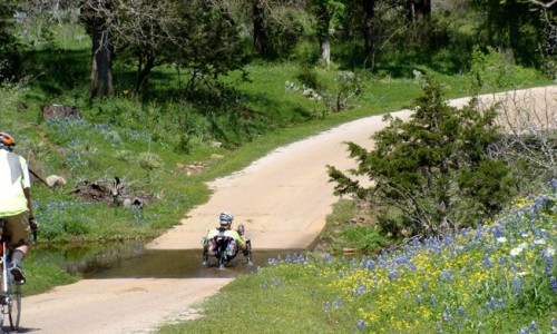 Llano CR226 wildflowers about and the low water crossings are running